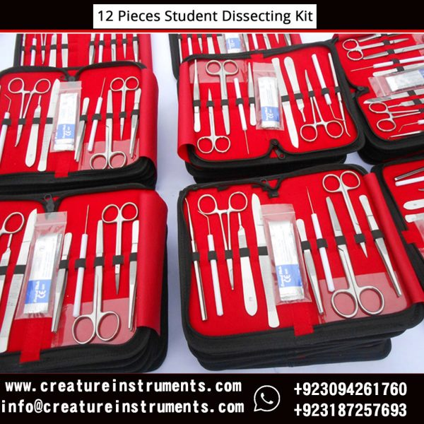 12 Pieces Doctor Student Advanced Surgery Anatomy Dissecting Tools Kit